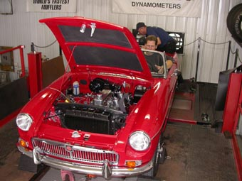 MGB on the Dyno