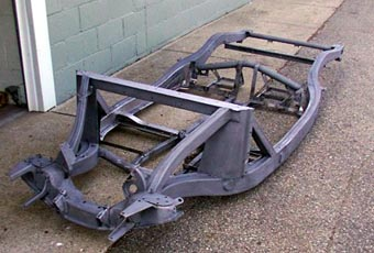 Front view of frame