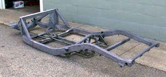 Side view of frame